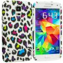 Samsung Galaxy S5 Colorful Leopard TPU Design Soft Case Cover Angle 1