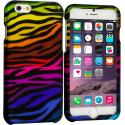 Apple iPhone 6 Plus 6S Plus (5.5) Motley Zebra 2D Hard Rubberized Design Case Cover Angle 1