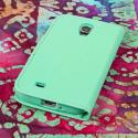 Samsung Galaxy S4 - Mint Green MPERO Leather Wallet Credit Card Case Cover Angle 3
