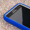 Samsung Galaxy Note 4 - Blue MPERO IMPACT XL - Kickstand Case Cover Angle 5