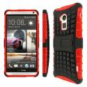 HTC One Max T6 - Black / Red MPERO IMPACT SR - Kickstand Case Cover Angle 1