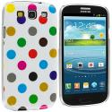 Samsung Galaxy S3 Polka Dot Colorful on White Hard Rubberized Design Case Cover Angle 2