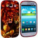 Samsung Galaxy S3 Lion TPU Design Soft Case Cover Angle 1