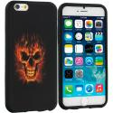 Apple iPhone 6 6S (4.7) Flaming Skull TPU Design Soft Case Cover Angle 1