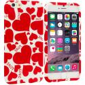 Apple iPhone 6 6S (4.7) Hearts w Different Shapes TPU Design Soft Case Cover Angle 1
