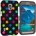 Samsung Galaxy S5 Active Black / Colorful TPU Design Soft Rubber Case Cover Angle 1