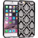 Apple iPhone 6 6S (4.7) Black TPU Damask Designer Luxury Rubber Skin Case Cover Angle 1