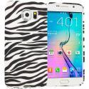 Samsung Galaxy S6 Black/White Zebra TPU Design Soft Rubber Case Cover Angle 1
