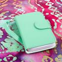Alcatel OneTouch Evolve - Mint/ White MPERO FLEX FLIP Wallet Case Cover Angle 2