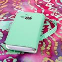 Alcatel OneTouch Evolve - Mint/ White MPERO FLEX FLIP Wallet Case Cover Angle 3