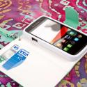 Alcatel OneTouch Evolve - Mint/ White MPERO FLEX FLIP Wallet Case Cover Angle 4