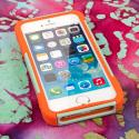 Apple iPhone 5/5S/SE - Coral/ Mint MPERO IMPACT X - Kickstand Case Cover Angle 2