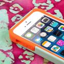 Apple iPhone 5/5S/SE - Coral/ Mint MPERO IMPACT X - Kickstand Case Cover Angle 5
