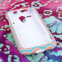 Kyocear Hydro Edge - Mint Chevron MPERO SNAPZ - Rubberized Case Cover Angle 2