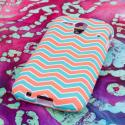 Kyocear Hydro Edge - Mint Chevron MPERO SNAPZ - Rubberized Case Cover Angle 3