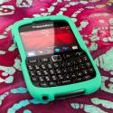Blackberry Curve 9310/ 9315 - Mint Green MPERO SNAPZ - Rubberized Case Cover Angle 2
