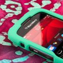 Blackberry Curve 9310/ 9315 - Mint Green MPERO SNAPZ - Rubberized Case Cover Angle 4
