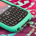 Blackberry Curve 9310/ 9315 - Mint Green MPERO SNAPZ - Rubberized Case Cover Angle 5