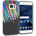 Samsung Galaxy S7 Edge Rainbow Star TPU Design Soft Rubber Case Cover Angle 1