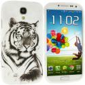 Samsung Galaxy S4 Tiger TPU Design Soft Case Cover Angle 1