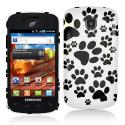 Samsung Proclaim S720C Dog Paw Hard Rubberized Design Case Cover Angle 1