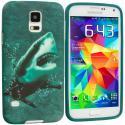 Samsung Galaxy S5 Shark TPU Design Soft Case Cover Angle 1