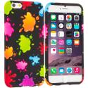 Apple iPhone 6 Plus 6S Plus (5.5) Colorful Splash TPU Design Soft Rubber Case Cover Angle 1