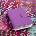 BlackBerry Q5 - Purple MPERO FLEX FLIP Wallet Case Cover Angle 2