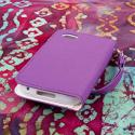 BlackBerry Q5 - Purple MPERO FLEX FLIP Wallet Case Cover Angle 3