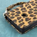 Nokia Lumia 521 - Studded Leopard MPERO FLEX FLIP Wallet Case Cover Angle 7