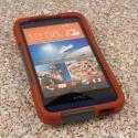 HTC Desire 510 512 - Sandstone / Gray MPERO IMPACT X - Kickstand Case Cover Angle 2
