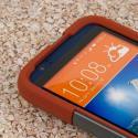 HTC Desire 510 512 - Sandstone / Gray MPERO IMPACT X - Kickstand Case Cover Angle 5
