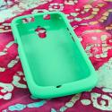 Huawei Vitria - Mint Green MPERO SNAPZ - Rubberized Case Cover Angle 2