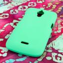 Huawei Vitria - Mint Green MPERO SNAPZ - Rubberized Case Cover Angle 3