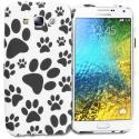 Samsung Galaxy E5 S978L Dog Paw TPU Design Soft Rubber Case Cover Angle 1