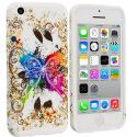 Apple iPhone 5C Colorful Butterfly TPU Design Soft Case Cover Angle 1