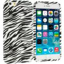 Apple iPhone 6 6S (4.7) Black/White Zebra TPU Design Soft Case Cover Angle 1