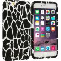 Apple iPhone 6 6S (4.7) Black Giraffe TPU Design Soft Case Cover Angle 1