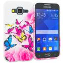 Samsung Galaxy Prevail LTE Core Prime G360P Pink Colorful Butterfly TPU Design Soft Rubber Case Cover Angle 1