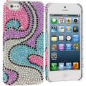 Apple iPhone 5/5S/SE Water Heart Bling Rhinestone Case Cover Angle 1