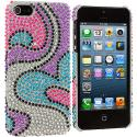 Apple iPhone 5/5S/SE Water Heart Bling Rhinestone Case Cover Angle 2