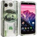 LG Google Nexus 5 Hundred Dollars Hard Rubberized Design Case Cover Angle 1