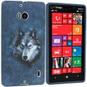 Nokia Lumia 929 Icon Wolf TPU Design Soft Case Cover Angle 1