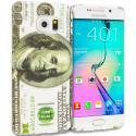 Samsung Galaxy S6 Edge Hundred Dollars TPU Design Soft Rubber Case Cover Angle 1
