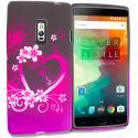 OnePlus 2 Two Purple Love TPU Design Soft Rubber Case Cover Angle 1