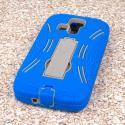 Kyocera Hydro Icon - Blue MPERO IMPACT XL - Kickstand Case Cover Angle 3