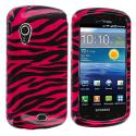 Samsung Stratosphere i405 Black / Hot Pink Zebra Design Crystal Hard Case Cover Angle 1
