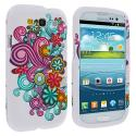 Samsung Galaxy S3 Flower Ribbon Hard Rubberized Design Case Cover Angle 2
