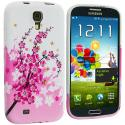 Samsung Galaxy S4 Spring Flower TPU Design Soft Case Cover Angle 2