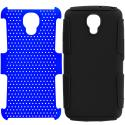 LG Volt LS740 Black / Blue Hybrid Mesh Hard/Soft Case Cover Angle 8